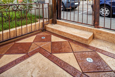 Stone Concrete Patio
